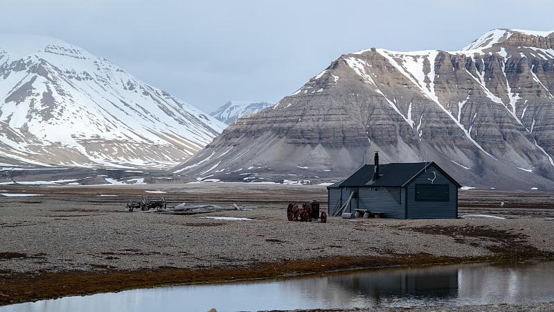 斯瓦尔巴德群岛,山脉,背景,冰袋,风景,寒冷,挪威,环境,云,霜