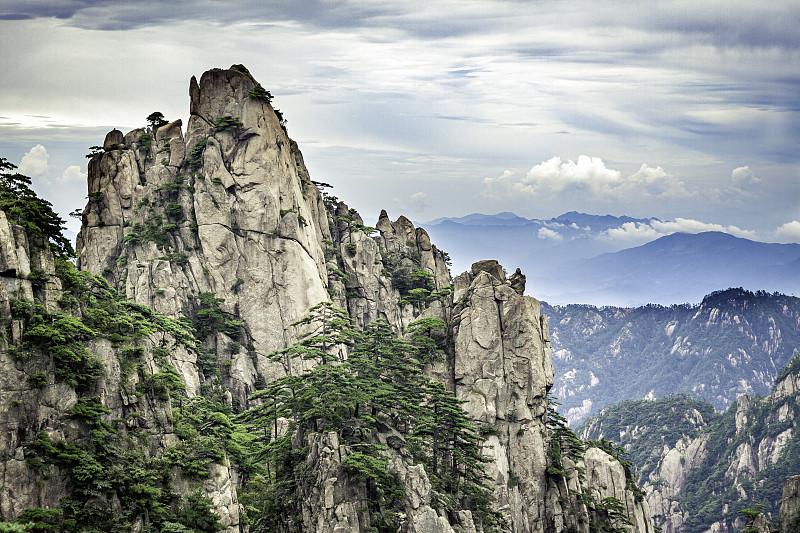 中国,,黄山,自然,风景,世界遗产,云,图像,著名景点,无人