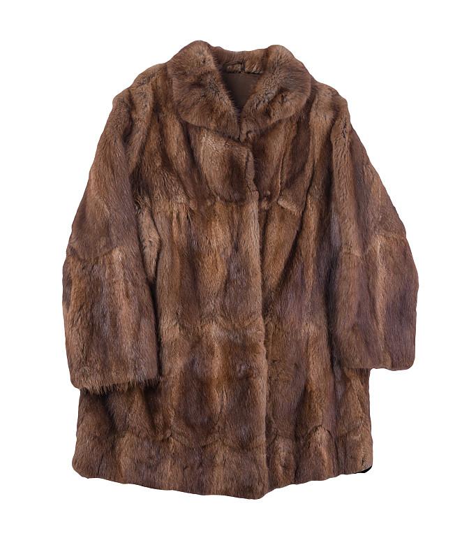 白色背景,厚衣服,自然,热,毛皮,皮毛大衣,褐色,分离着色,寒冷,外套
