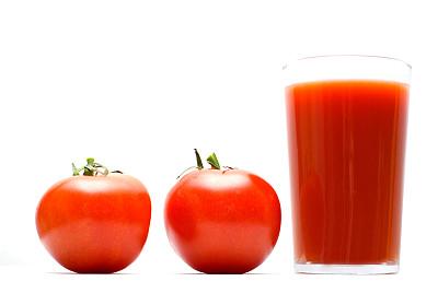 番茄汁,水平画幅,无人,玻璃,生食,果汁,饮料,特写,西红柿,白色