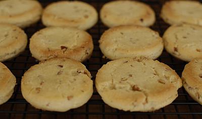 酥饼,支架,饼干,冷却架,烤盘,美洲山核桃,正面视角,水平画幅,无人,特写