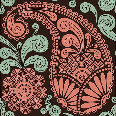 传统,式样,东,高雅,螺旋花纹呢,美,纺织品,无人,绘画插图,古典式