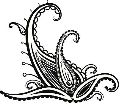 螺旋花纹呢,美,式样,边框,无人,绘画插图,装饰物,丰富,东亚,非凡的