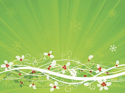 绿色,背景,轮叶冬青,水平画幅,纹理效果,无人,绘画插图,古典式,圣诞树