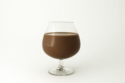 巧克力奶昔,玻璃杯,蛋白质饮料,水平画幅,彩色图片,饮料,热可可,牛奶,摄影,倒