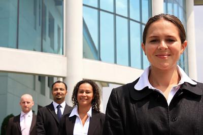 经理,青年人,女性,一排人,办公室,选择对焦,美,混合年龄,水平画幅,美人