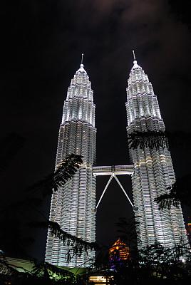 吉隆坡,双峰塔,垂直画幅,建筑,无人,电灯,户外,马来西亚,高大的,城市
