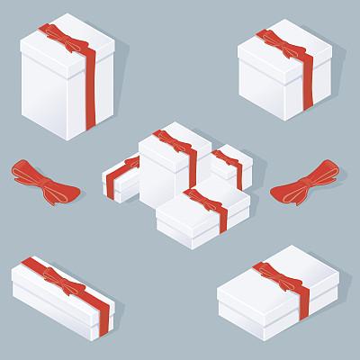 包装纸,无人,蝴蝶结,绘画插图,符号,盒子,生日,圣诞礼物,纸箱