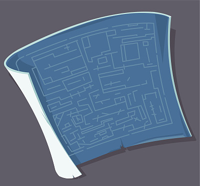 蓝图,文档,图标,建筑,无人,绘画插图,剪贴画,符号,背景分离,做计划