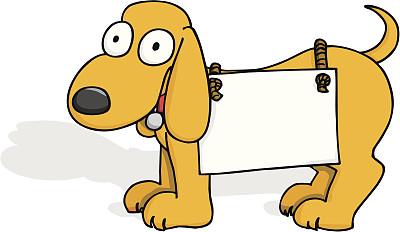 房地产标志,太空,系船柱,空白的,留白,绘画插图,数据,小狗,犬科的
