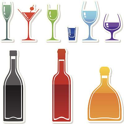 饮料,数字9,蓝色马提尼,苹果马提尼,咖啡利口,方津杏仁酒,苦艾酒,普罗赛柯起泡酒,淡红葡萄酒,热甜红酒