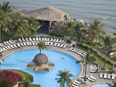 度假胜地,海滩,躺椅,水,公园,风,水平画幅,进行中,游泳池,椰子树