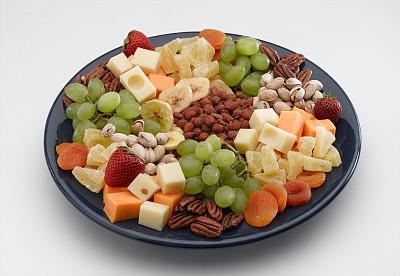 奶酪,果盘,乳酪板,瑞士硬干酪,美洲山核桃,奶制品,水平画幅,无人,开胃品,切达干酪