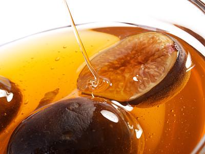 无花果,蜂蜜,亚得里亚海无花果,水平画幅,无人,生食,营养品,特写,甜点心,部分