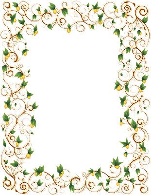 边框,柠檬,叶子,自然,留白,式样,水果,无人,绘画插图,剪贴画