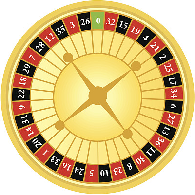 轮盘赌转轮,两个物体,轮盘赌,圆形,车轮,无人,绘画插图,卡通,彩色图片,数字