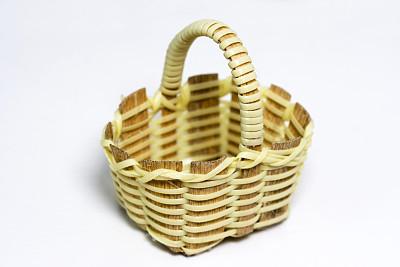 小的,篮子,选择对焦,野餐篮,复活节篮,空的,水平画幅,彩色图片,无人,机织织物