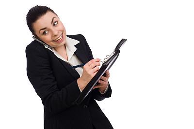 青年人,个人备忘录,女商人,手机,留白,水平画幅,套装,日记,仅成年人,专业人员