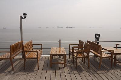 椅子,海滩,桌子,避暑圣地,天空,度假胜地,客船,水平画幅,工业船,无人