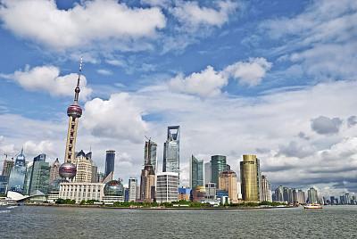 上海,上海世博会,东方明珠塔,黄浦江,陆家嘴,天空,水平画幅,无人,户外,浦东