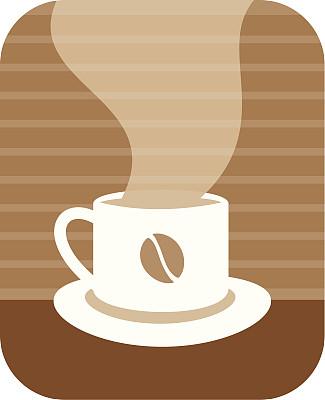 咖啡,留白,无人,绘画插图,剪贴画,符号,浓咖啡,饮料,液体,彩色图片