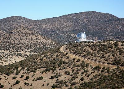 在上面,山,沙漠,天文学,天文望远镜,天文台,天空,水平画幅,圆顶建筑,无人