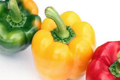 绿色,黄色,红色灯笼椒,黄色灯笼椒,青椒,水平画幅,灯笼椒,无人,椒类食物,有机食品