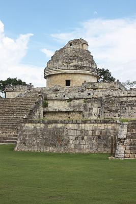 天文台,玛雅文明,马雅里维耶拉,契晨-伊特萨,尤卡坦州,垂直画幅,台阶,古代文明,灵性,无人