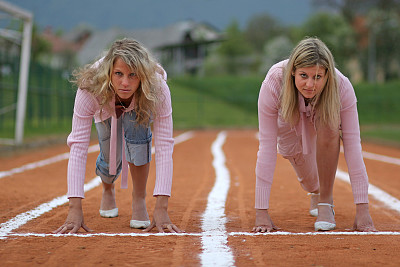 商务,开端,正面视角,起跑架,销售职位,套装,田径跑道,图像,仅成年人,想法