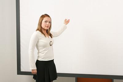 女性,青少年,留白,零售展示,水平画幅,商务会议,白人,充满的,知识,白色