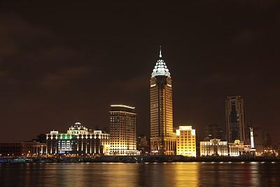 夜晚,上海,上海世博会,浦西,金茂大厦,上海环球金融中心,东方明珠塔,外滩,陆家嘴,水平画幅
