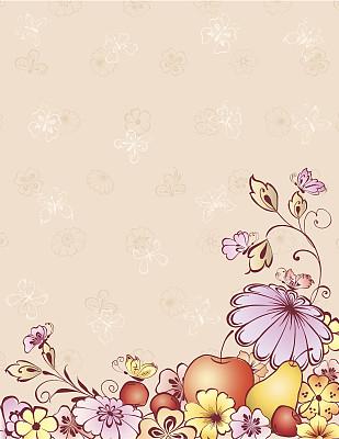 蝴蝶,水果,绘画插图,樱桃,无人,夏天,生日,叶子,昆虫,精神振作