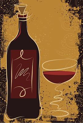 华丽的,红葡萄酒,设拉子葡萄,黑皮诺葡萄,波特酒,莫尔乐葡萄,葡萄酒,留白,艺术,纹理效果