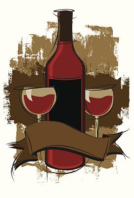 莫尔乐葡萄,不完全的,设拉子葡萄,黑皮诺葡萄,波特酒,葡萄酒,留白,艺术,纹理效果,风化的
