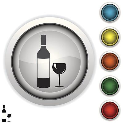 玻璃杯,酒瓶,图标,葡萄酒,无人,绘画插图,符号,含酒精饮料,计算机制图,计算机图形学
