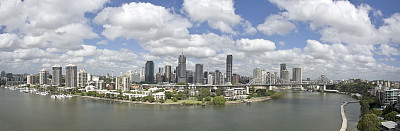 布里斯班,故事桥,水平画幅,无人,全景,城市天际线,半空中,户外,航拍视角,都市风景