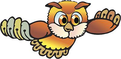 猫头鹰,卡通,大雕,褐色,绘画插图,剪贴画,鸟类,动物身体部位,翅膀,安静