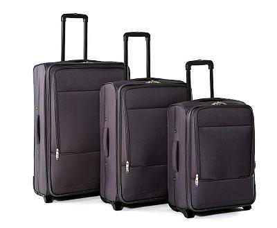 手提箱,白色背景,三个物体,轮式行李,个人随身用品,车轮,衣柜,水平画幅,纺织品,无人