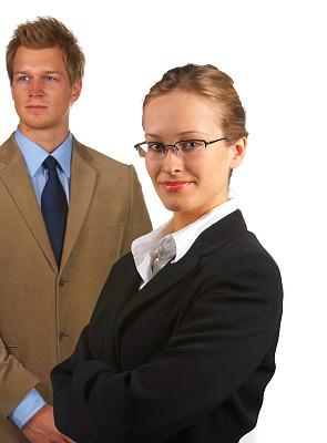 青年人,注视镜头,女商人,垂直画幅,领导能力,健康,男商人,经理,不看镜头,仅成年人