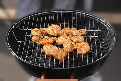 烤肉架,煎鸡肉,羊肉串,格子烤肉,芳香的,水平画幅,膳食,熟食店,户外,铁
