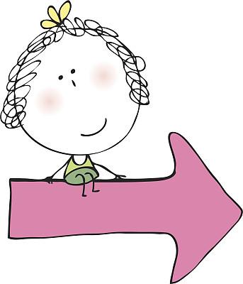 女孩,乱画,学龄前,学龄前儿童,小的,可爱的,快乐,嬉戏的,绘画插图,符号
