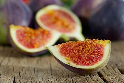 无花果,清新,水平画幅,木制,水果,无人,熟的,特写,抗氧化物,甜食