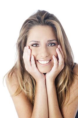 肖像,青年女人,垂直画幅,美,留白,拉美人和西班牙裔人,彩妆,注视镜头,美人,纯净