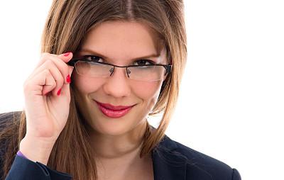 眼镜,女商人,衣服,美,拉美人和西班牙裔人,水平画幅,美人,仅成年人,视力,白领