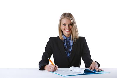 青年女人,垂直画幅,正面视角,留白,销售职位,文档,仅成年人,青年人,专业人员