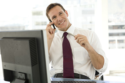 男商人,办公室,留白,忙碌,男性,仅男人,仅成年人,专业人员,彩色图片,信心