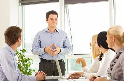人群,青年人,商务人士,进行中,办公室,领导能力,笔记本电脑,水平画幅,工作场所,会议