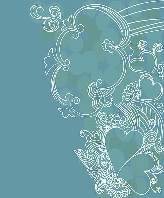 不完全的,乱画,情人节卡,自然,垂直画幅,留白,无人,云景,线条,概念