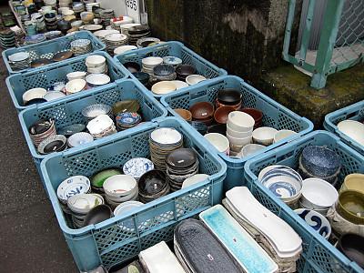 筑地市场,碗,待售,东方市集,艺术,水平画幅,板条箱,户外,篮子,货摊