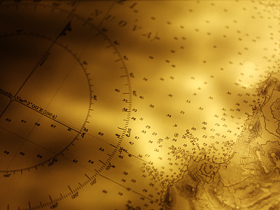 图表,纸,船,航海图,海上航道,水平画幅,无人,古老的,黄铜,古典式